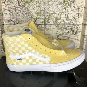 Vans sk8 hi checkered board banana/marshmallow